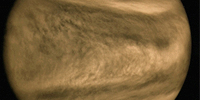 "The huge ""Y"" in the atmosphere of Venus due to a wave distorted by the wind"