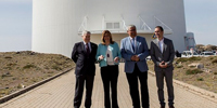 Susana Diaz commits the Andalusian government support to the continuity of Calar Alto Observatory